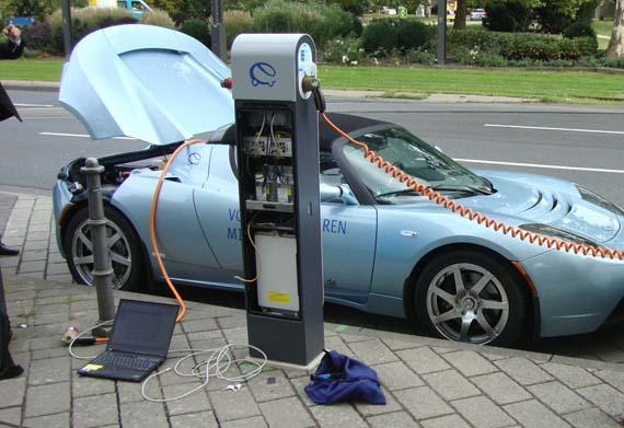 Estaciones de carga electrica
